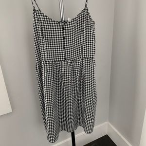 Black and White Checkered Summer Dress